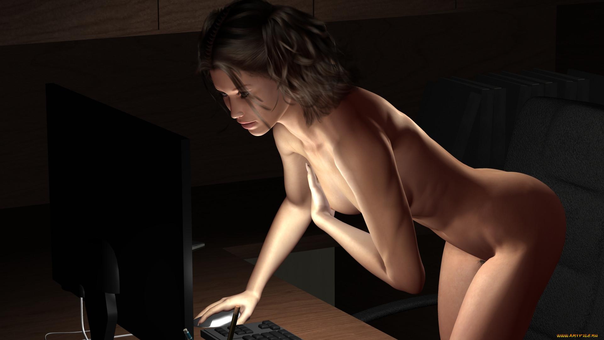 Широкоформатные обои на рабочий стол высокого качества девушки эротика